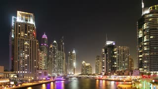 Time Lapse Marina Area Of Dubai