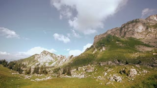 time lapse mountains landscape clouds 1080