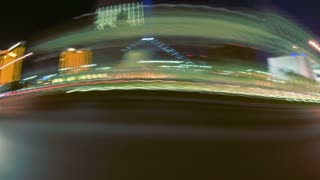 Time Lapse Night Driving Sideways Las Vegas