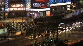 Time Lapse Night Rush Las Vegas
