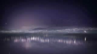 Time Lapse night scape over water
