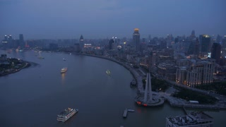 Time Lapse of Boats on Shanghai River