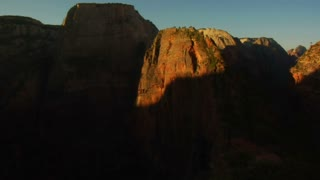Time-lapse Of Morning Light On Redrock Cliff