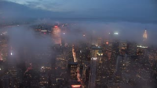 time lapse of new york city skyline at night