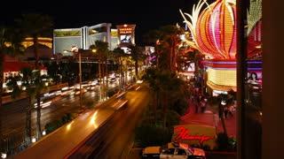Time lapse of the Strip (Las Vegas Boulevard) at night, Las Vegas, Nevada, United States of America