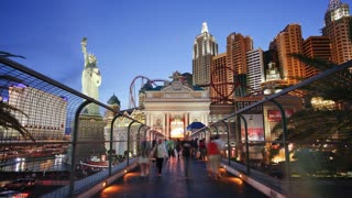 Time lapse of the Strip (Las Vegas Boulevard), Las Vegas, Nevada, United States of America