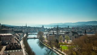 Time lapse of Zurich Switzerland