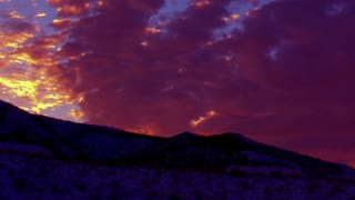 Time Lapse purple sunset clouds 2