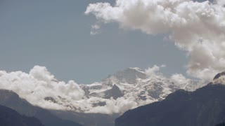time lapse snow mountains glaciers clouds