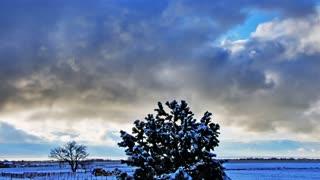 Time Lapse snowy landscape