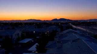Time Lapse sunrise over residential neighborhood