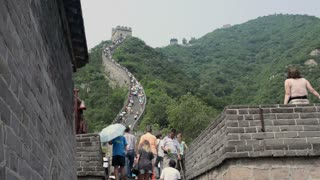 Time Lapse Tourists on Great Wall of China