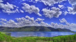 Time Lapse vibrant water landscape