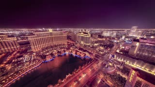 Time Lapse wide Las Vegas night landscape