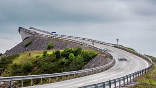"Timelapse Atlantic Ocean Road or the Atlantic Road (Atlanterhavsveien) been awarded the title as ""Norwegian Construction of the Century"". The road classified as a National Tourist Route."