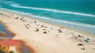 Timelapse Beach on the Indian Ocean. India (tilt shift lens).