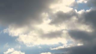 Timelapse Cloudy Blue Sky