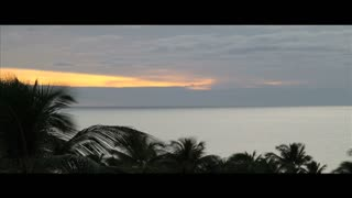 Timelapse Hawaii Sunset Scene