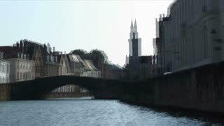 Timelapse Of Canal In Brugge