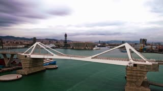 Timelapse of Cloudy Day in Barcelona