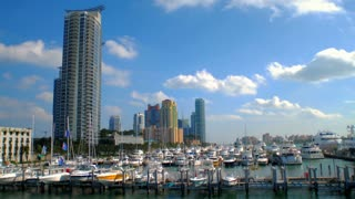 Timelapse Of Harbor In Miami