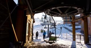 timelapse of ski lift