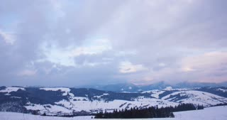 timelapse of snow mountains