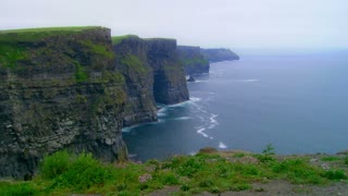 Timelapse of Storm Hitting the Cliffs of Moher in Ireland
