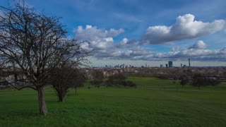 Timelapse Primrose hill wide angle - London