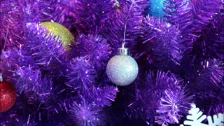 Timelapse Purple Christmas Tree