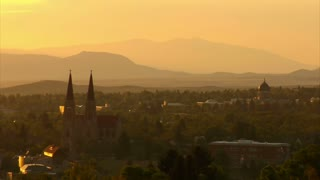 Timelapse Sunrise Over Idyllic American Town