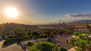 Timelapse Sunset Florence - Italy