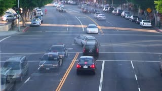 Timelapse Traffic Busy Intersection