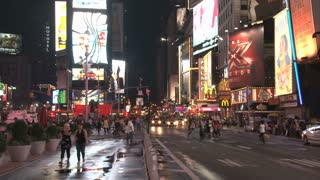 Times Square at Night Scene