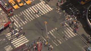 Times Square Intersection in Daytime