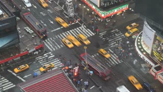 Times Square Intersection on Rainy Day Timelapse 3