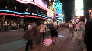 Times Square Sidewalk Timelapse