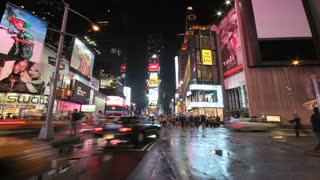 Times Square Street at Night Timelapse 2