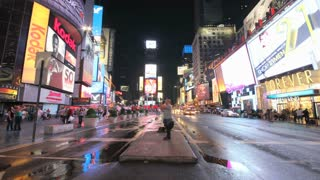 Times Square Street at Night Timelapse 3
