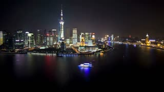 TL Pudong skyline (elevated view across Huangpu River from the Bund), Shanghai, China
