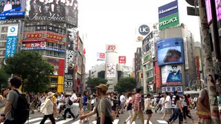 Tokyo Crowded Intersection