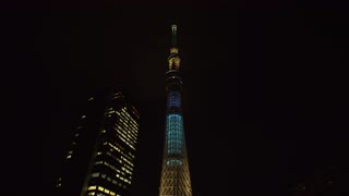 Tokyo Sky Tree At Night, Japan