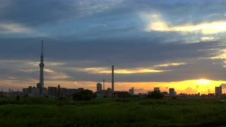Tokyo Sky Tree With Urban Landscape At Sunrise