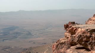 Top of the Cliff Face of Mitzpe Ramon Crater