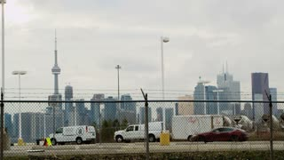 Toronto Behind Barbed Wire Fence