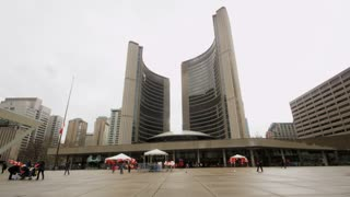 Toronto City Hall On Rainy Day