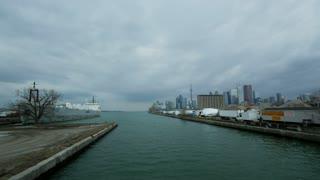 Toronto Skyline From Lake Ontario Docks