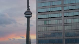Toronto Sunset CN Tower View Toronto