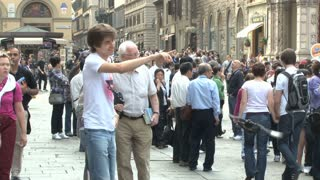 Tourists Along Streets of Florence