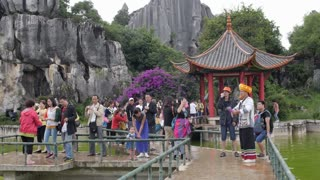 Tourists at Chinese Lake
